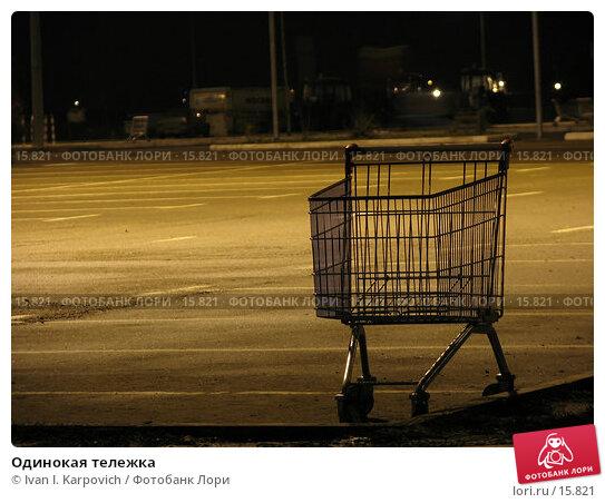 Одинокая тележка, фото № 15821, снято 30 ноября 2006 г. (c) Ivan I. Karpovich / Фотобанк Лори