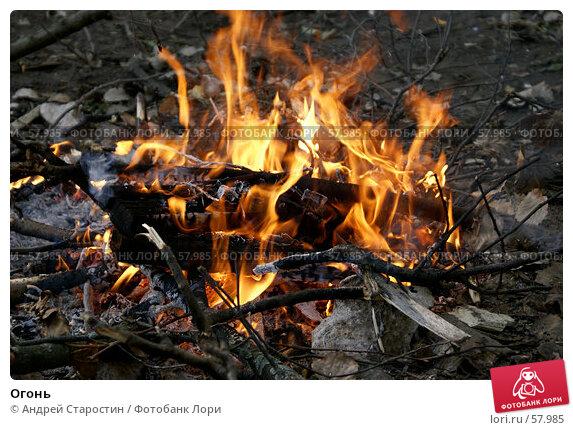 Огонь, фото № 57985, снято 30 июня 2007 г. (c) Андрей Старостин / Фотобанк Лори