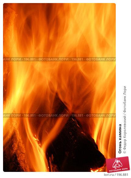 Огонь камина, фото № 196881, снято 19 января 2008 г. (c) Федор Королевский / Фотобанк Лори