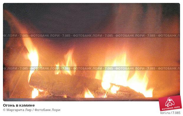 Огонь в камине, фото № 7085, снято 30 апреля 2006 г. (c) Маргарита Лир / Фотобанк Лори