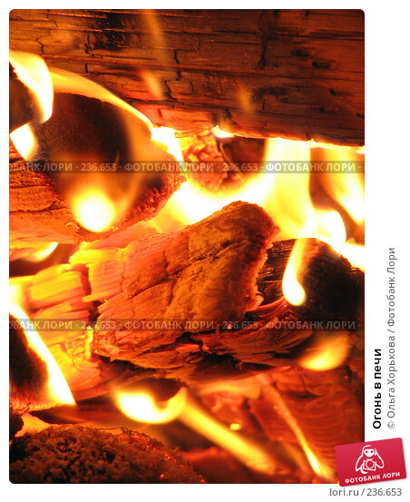 Огонь в печи, фото № 236653, снято 15 июня 2007 г. (c) Ольга Хорькова / Фотобанк Лори