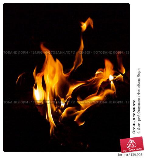 Огонь в темноте, фото № 139905, снято 1 мая 2007 г. (c) Дмитрий Ощепков / Фотобанк Лори