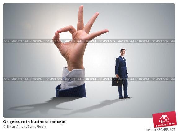 Ok gesture in business concept. Стоковое фото, фотограф Elnur / Фотобанк Лори