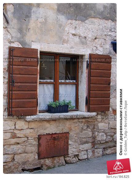 Окно с деревянными ставнями, фото № 84825, снято 12 июля 2007 г. (c) Golden_Tulip / Фотобанк Лори
