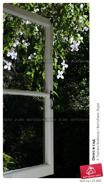 Окно в сад, фото № 21841, снято 3 июня 2006 г. (c) Tamara Kulikova / Фотобанк Лори