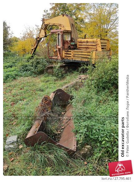 Купить «Old excavator parts», фото № 27795461, снято 21 февраля 2018 г. (c) PantherMedia / Фотобанк Лори