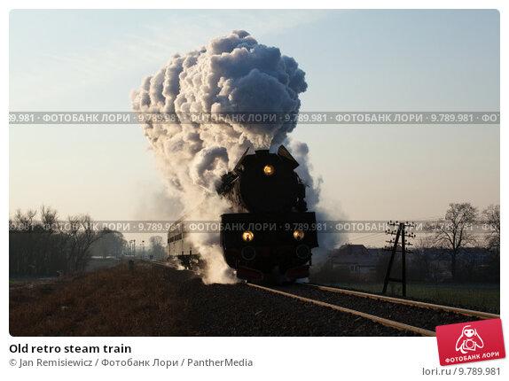 Old retro steam train. Стоковое фото, фотограф Jan Remisiewicz / PantherMedia / Фотобанк Лори