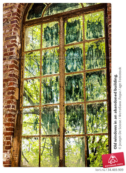 Old windows in an abandoned building. Стоковое фото, фотограф Joseph De Sciose / age Fotostock / Фотобанк Лори