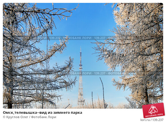 Омск,телевышка--вид из зимнего парка, фото № 139237, снято 5 декабря 2007 г. (c) Круглов Олег / Фотобанк Лори