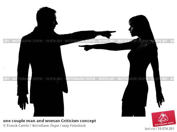 Купить «one couple man and woman Criticism concept», фото № 19074301, снято 14 декабря 2018 г. (c) easy Fotostock / Фотобанк Лори
