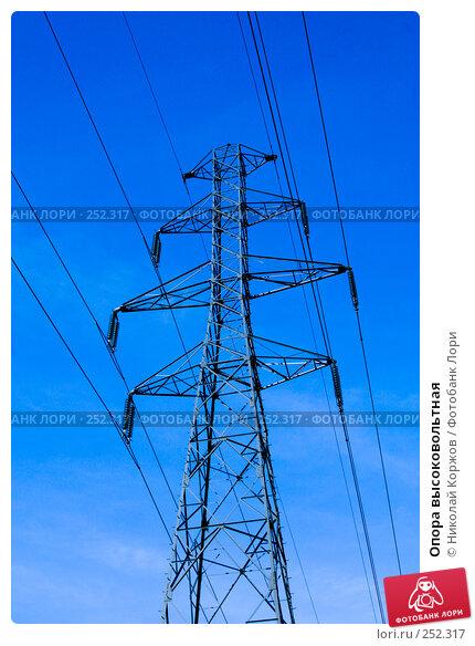 Опора высоковольтная, фото № 252317, снято 26 января 2008 г. (c) Николай Коржов / Фотобанк Лори