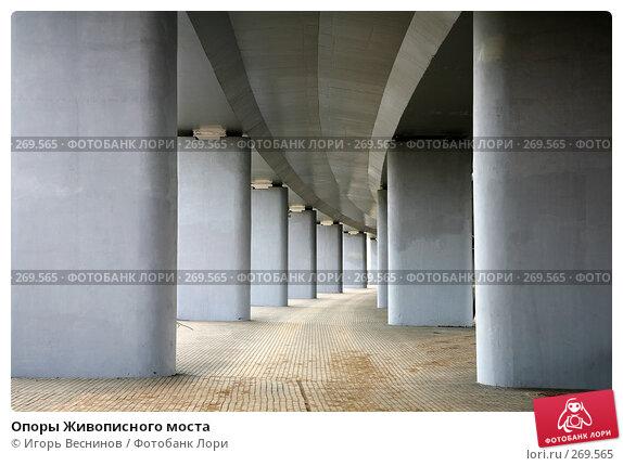 Купить «Опоры Живописного моста», фото № 269565, снято 26 апреля 2008 г. (c) Игорь Веснинов / Фотобанк Лори