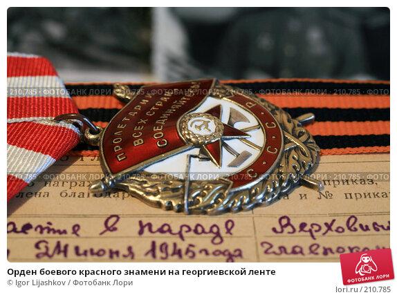 Орден боевого красного знамени на георгиевской ленте, фото № 210785, снято 24 февраля 2008 г. (c) Igor Lijashkov / Фотобанк Лори