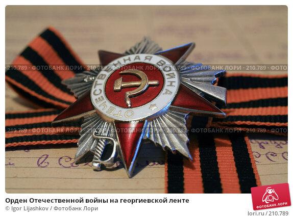 Орден Отечественной войны на георгиевской ленте, фото № 210789, снято 24 февраля 2008 г. (c) Igor Lijashkov / Фотобанк Лори