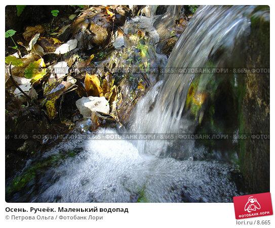 Осень. Ручеёк. Маленький водопад, фото № 8665, снято 6 октября 2005 г. (c) Петрова Ольга / Фотобанк Лори
