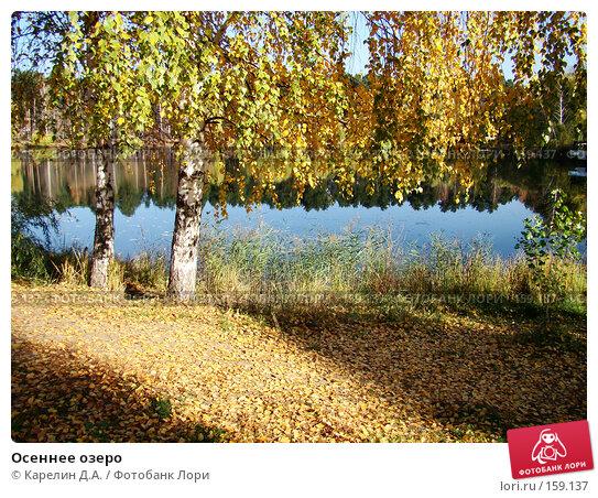 Купить «Осеннее озеро», фото № 159137, снято 27 октября 2007 г. (c) Карелин Д.А. / Фотобанк Лори
