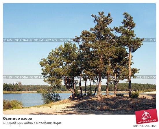 Купить «Осеннее озеро», фото № 202485, снято 24 сентября 2007 г. (c) Юрий Брыкайло / Фотобанк Лори