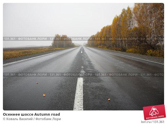 Осеннее шоссе Autumn road, фото № 131361, снято 8 октября 2007 г. (c) Коваль Василий / Фотобанк Лори