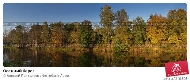 Осенний берег, фото № 216505, снято 25 февраля 2017 г. (c) Алексей Пантелеев / Фотобанк Лори