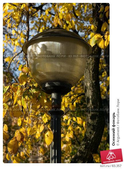 Осенний фонарь, фото № 83357, снято 20 октября 2006 г. (c) Argument / Фотобанк Лори