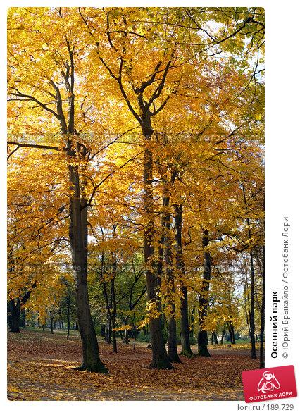 Осенний парк, фото № 189729, снято 28 марта 2017 г. (c) Юрий Брыкайло / Фотобанк Лори