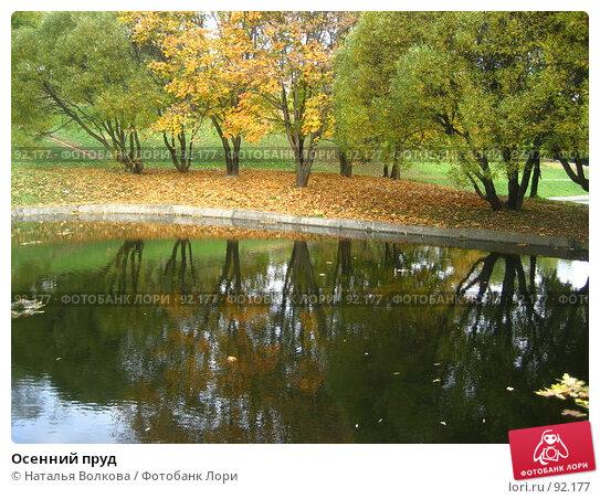 Осенний пруд, фото № 92177, снято 3 октября 2007 г. (c) Наталья Волкова / Фотобанк Лори