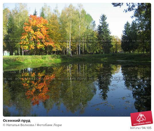Осенний пруд, фото № 94105, снято 22 сентября 2007 г. (c) Наталья Волкова / Фотобанк Лори
