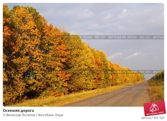 Осенняя дорога, фото № 151121, снято 1 октября 2006 г. (c) Вячеслав Потапов / Фотобанк Лори
