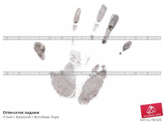 Отпечаток ладони, фото № 50525, снято 5 июня 2007 г. (c) Ivan I. Karpovich / Фотобанк Лори