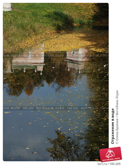 Отражение в воде, фото № 100209, снято 29 сентября 2007 г. (c) Елена Бринюк / Фотобанк Лори