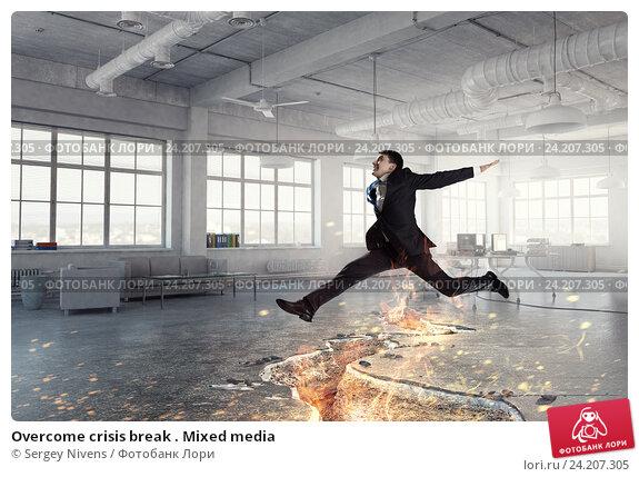 Купить «Overcome crisis break . Mixed media», фото № 24207305, снято 22 апреля 2019 г. (c) Sergey Nivens / Фотобанк Лори