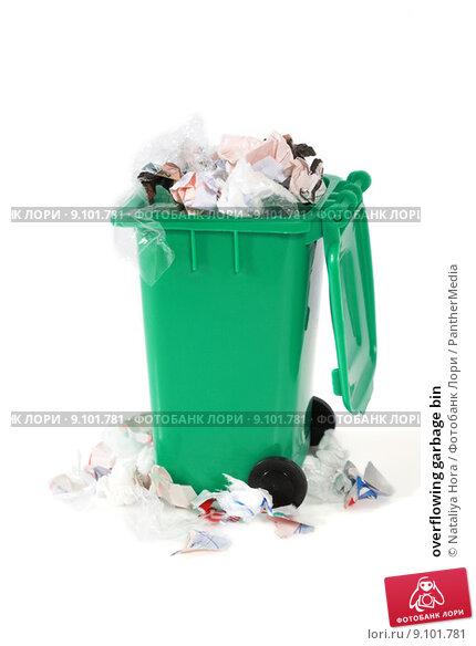 Купить «overflowing garbage bin», фото № 9101781, снято 20 февраля 2019 г. (c) PantherMedia / Фотобанк Лори