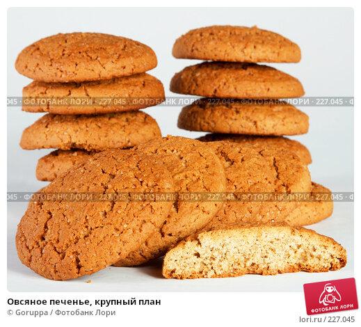 Купить «Овсяное печенье, крупный план», фото № 227045, снято 14 марта 2008 г. (c) Goruppa / Фотобанк Лори