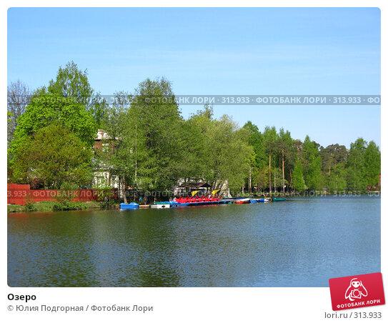 Купить «Озеро», фото № 313933, снято 11 мая 2008 г. (c) Юлия Селезнева / Фотобанк Лори
