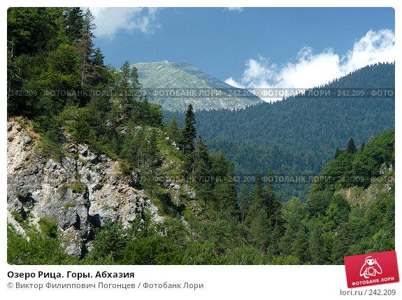 Озеро Рица. Горы. Абхазия, фото № 242209, снято 31 июля 2005 г. (c) Виктор Филиппович Погонцев / Фотобанк Лори