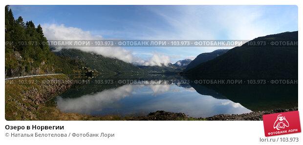 Озеро в Норвегии, фото № 103973, снято 25 апреля 2017 г. (c) Наталья Белотелова / Фотобанк Лори
