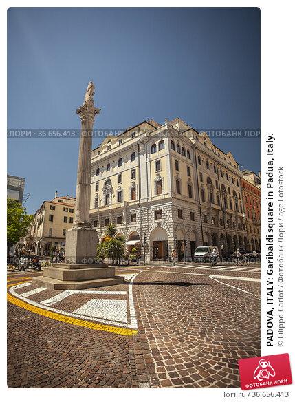 PADOVA, ITALY: Garibaldi square in Padua, Italy. Стоковое фото, фотограф Filippo Carlot / age Fotostock / Фотобанк Лори