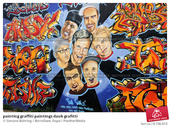 Купить «painting graffiti paintings daub grafitti», фото № 8736813, снято 21 февраля 2019 г. (c) PantherMedia / Фотобанк Лори