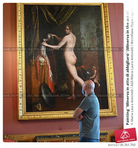 Painting ' Minerva in atto di abbigliarsi ' (Minerva in the act of... Редакционное фото, фотограф Maria Laura Antonelli / AGF/Maria Laura Antonelli / age Fotostock / Фотобанк Лори