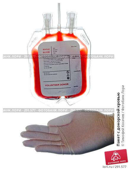 Пакет с донорской кровью, фото № 291577, снято 19 мая 2008 г. (c) Тимофей Косачев / Фотобанк Лори