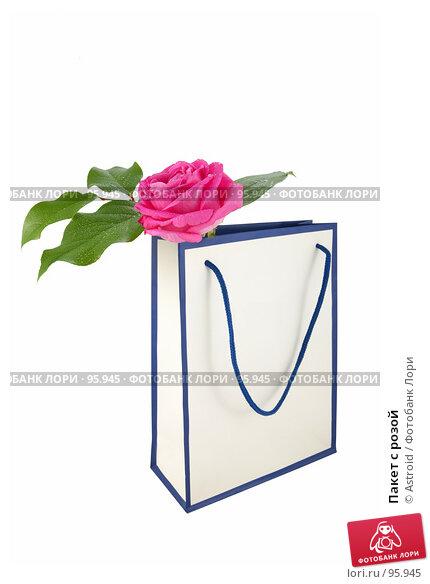 Пакет с розой, фото № 95945, снято 14 апреля 2007 г. (c) Astroid / Фотобанк Лори