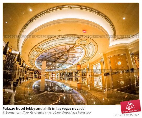 Palazzo hotel lobby and ahlls in las vegas nevada. Стоковое фото, фотограф Zoonar.com/Alex Grichenko / age Fotostock / Фотобанк Лори