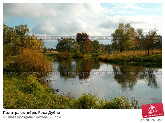 Палитра октября. Река Дубна, фото № 265353, снято 9 октября 2004 г. (c) Ольга Дроздова / Фотобанк Лори