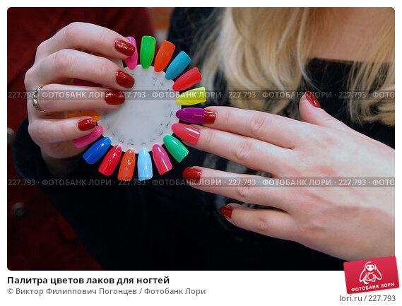 Палитра цветов лаков для ногтей, фото № 227793, снято 27 февраля 2008 г. (c) Виктор Филиппович Погонцев / Фотобанк Лори