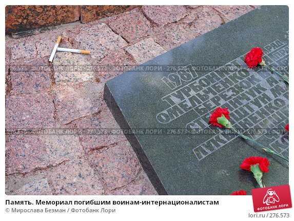 Память. Мемориал погибшим воинам-интернационалистам, фото № 276573, снято 7 мая 2008 г. (c) Мирослава Безман / Фотобанк Лори