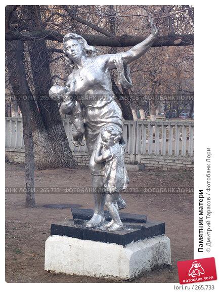 Купить «Памятник матери», фото № 265733, снято 1 января 2008 г. (c) Дмитрий Тарасов / Фотобанк Лори
