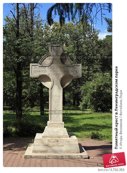 Купить «Памятный крест в Ленинградском парке», эксклюзивное фото № 3732353, снято 30 июня 2012 г. (c) Игорь Веснинов / Фотобанк Лори