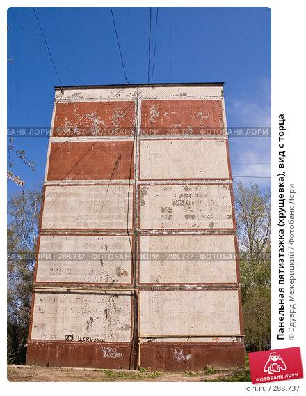 Панельная пятиэтажка (хрущевка), вид с торца, фото № 288737, снято 23 апреля 2008 г. (c) Эдуард Межерицкий / Фотобанк Лори