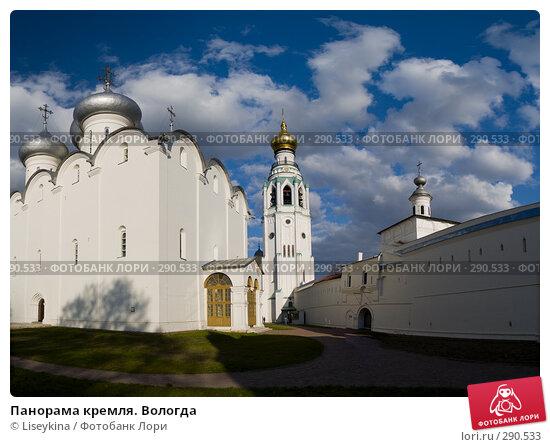Панорама кремля. Вологда, фото № 290533, снято 23 июня 2017 г. (c) Liseykina / Фотобанк Лори