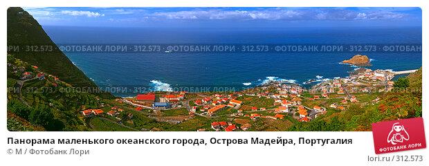 Панорама маленького океанского города, Острова Мадейра, Португалия, фото № 312573, снято 21 октября 2016 г. (c) Михаил / Фотобанк Лори